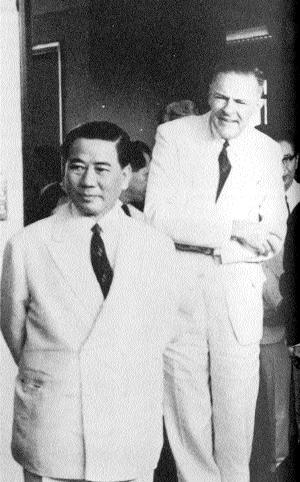 Ngô Đình Diệm et Henry Cabot Loge